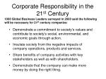 corporate responsibility in the 21 st century
