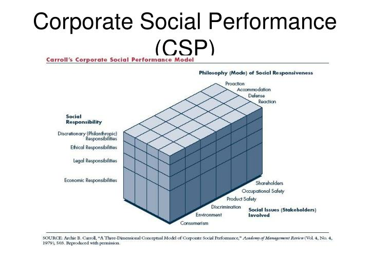Corporate Social Performance (CSP)
