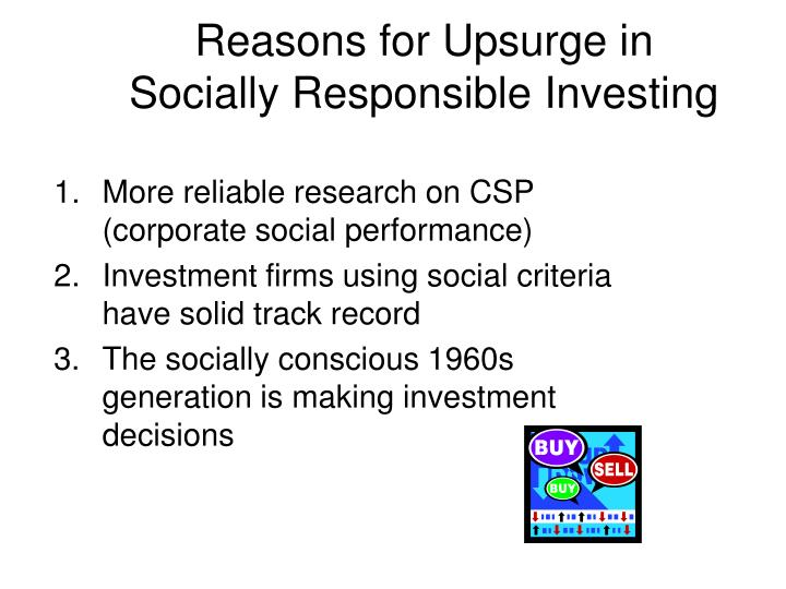 More reliable research on CSP (corporate social performance)
