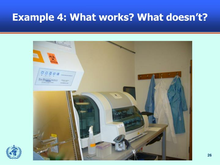 Example 4: What works? What doesn't?