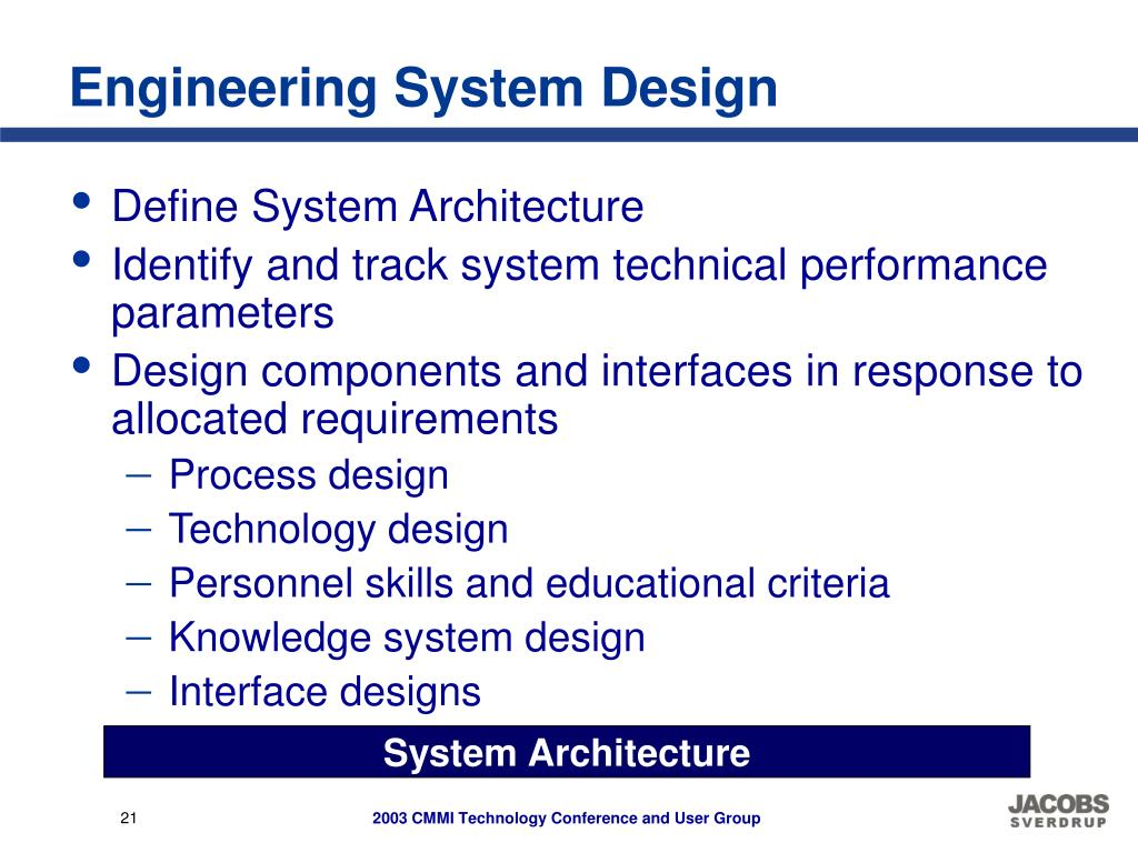 Engineering System Design