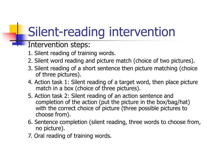 Silent-reading intervention