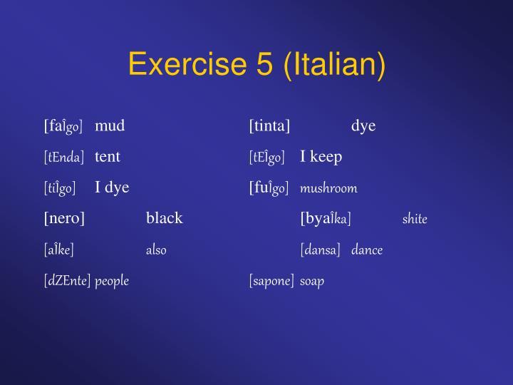 Exercise 5 (Italian)