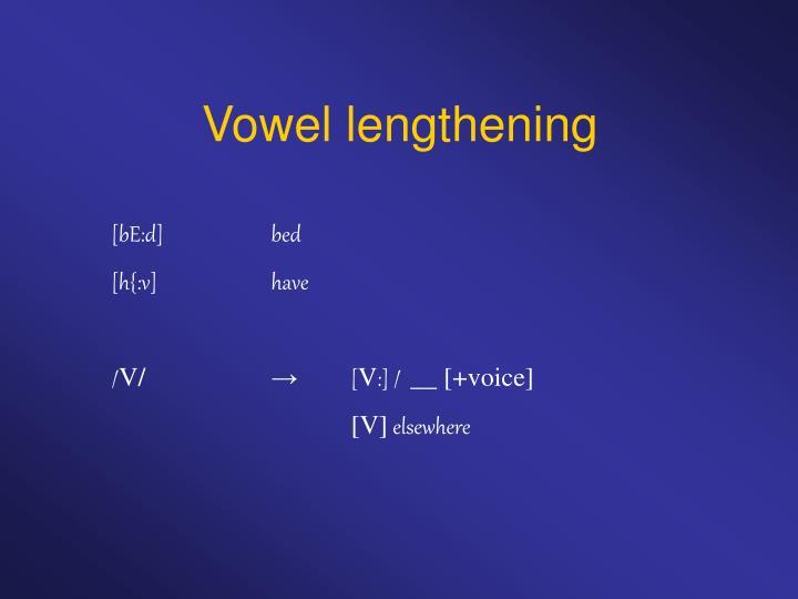 Vowel lengthening