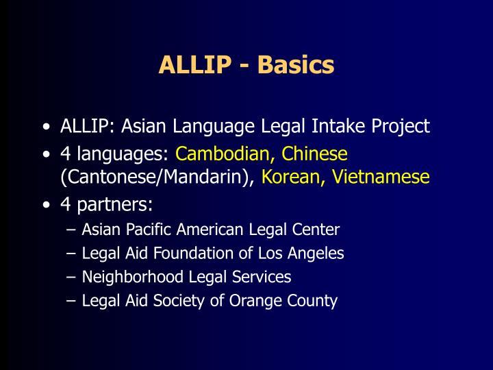 ALLIP - Basics