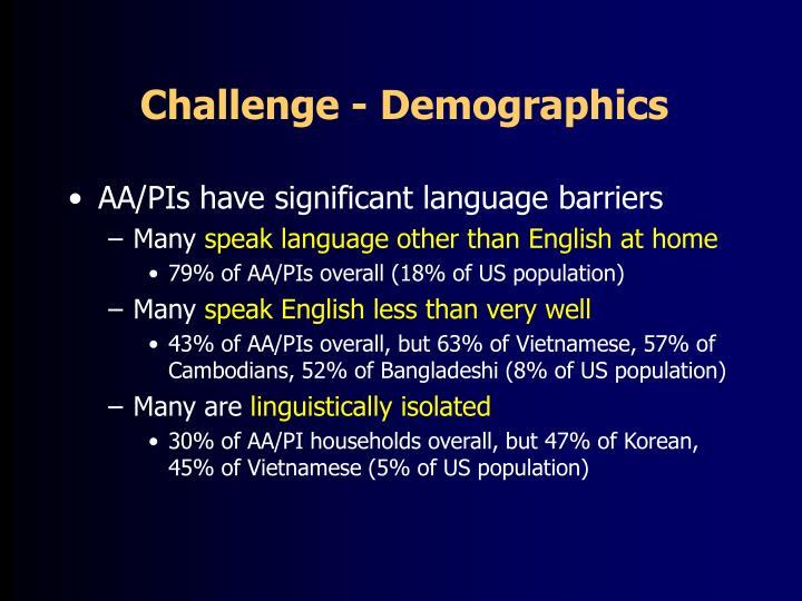 Challenge - Demographics