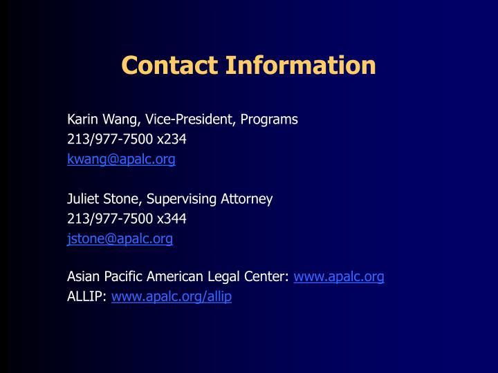 Karin Wang, Vice-President, Programs