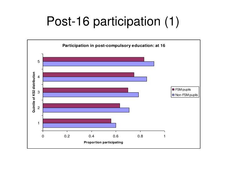 Post-16 participation (1)