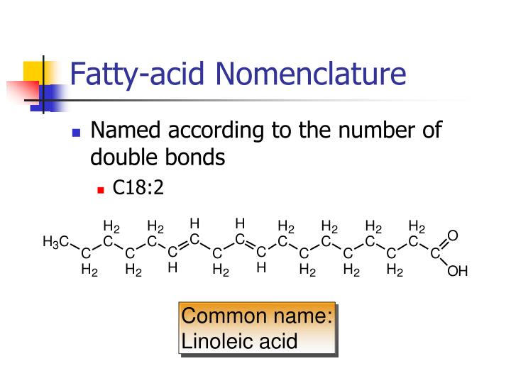 Fatty-acid Nomenclature