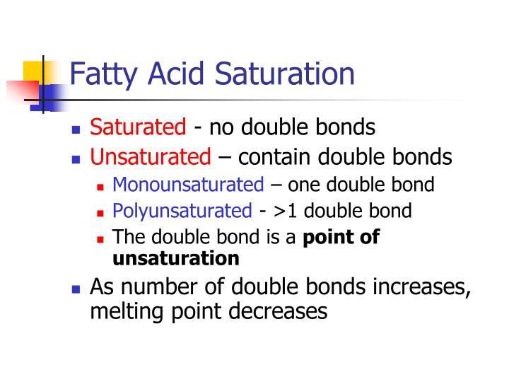 Fatty Acid Saturation
