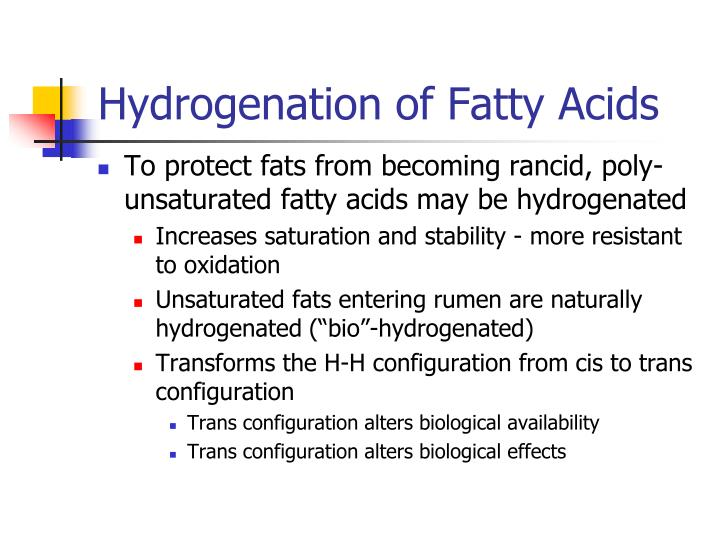 Hydrogenation of Fatty Acids