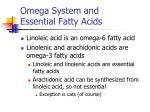 omega system and essential fatty acids