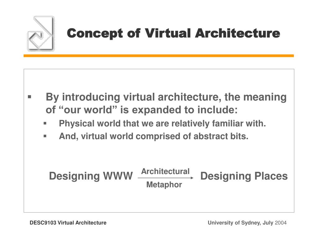 Concept of Virtual Architecture