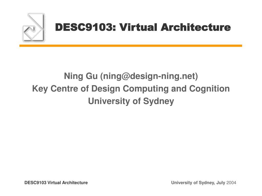 DESC9103: Virtual Architecture