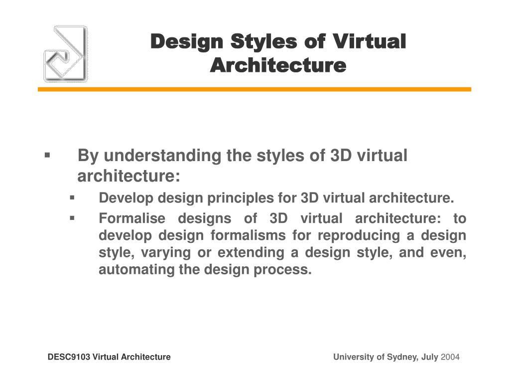 Design Styles of Virtual Architecture