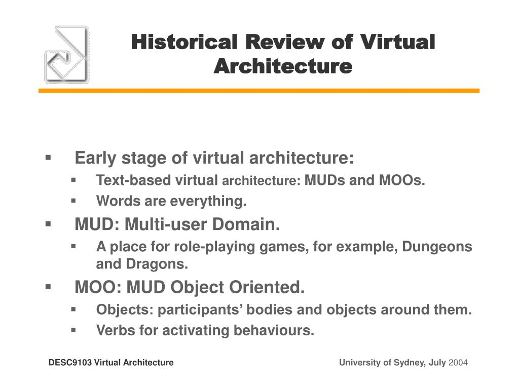 Historical Review of Virtual Architecture
