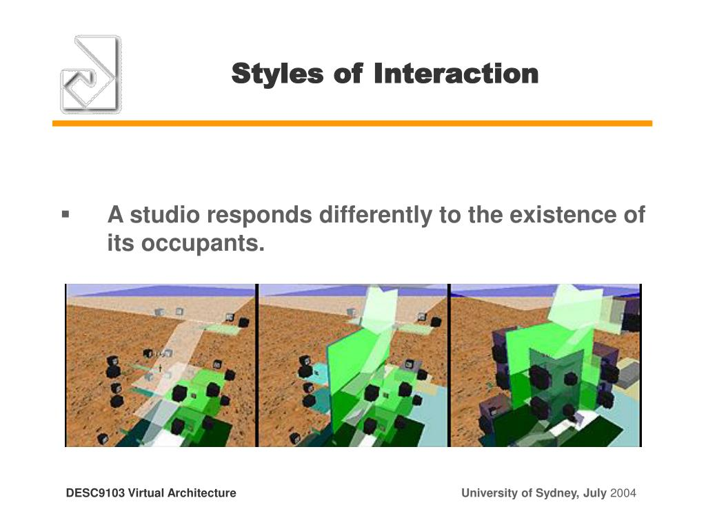 Styles of Interaction
