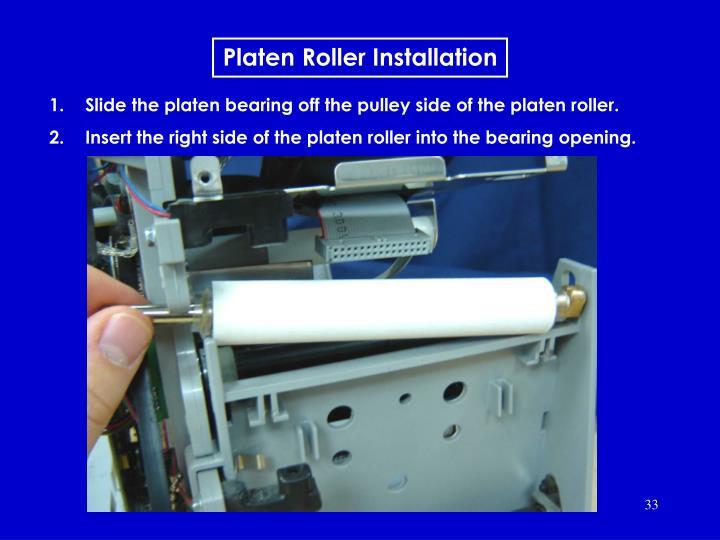 Platen Roller Installation