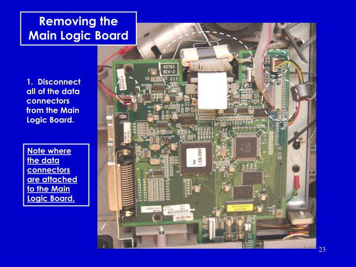 Removing the main logic board
