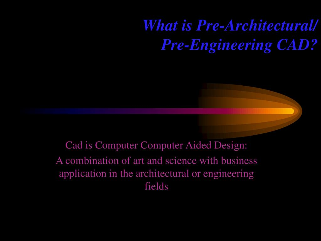 What is Pre-Architectural/