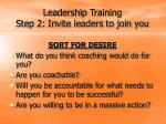 leadership training step 2 invite leaders to join you12