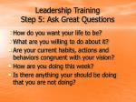 leadership training step 5 ask great questions