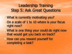 leadership training step 5 ask great questions25