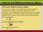 t test for the difference between means3