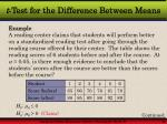 t test for the difference between means7