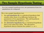 two sample hypothesis testing