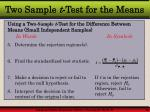two sample t test for the means1