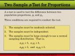 two sample z test for proportions