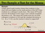 two sample z test for the means2