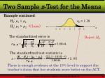 two sample z test for the means3