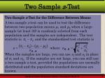 two sample z test2