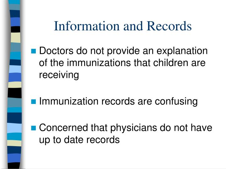 Information and Records