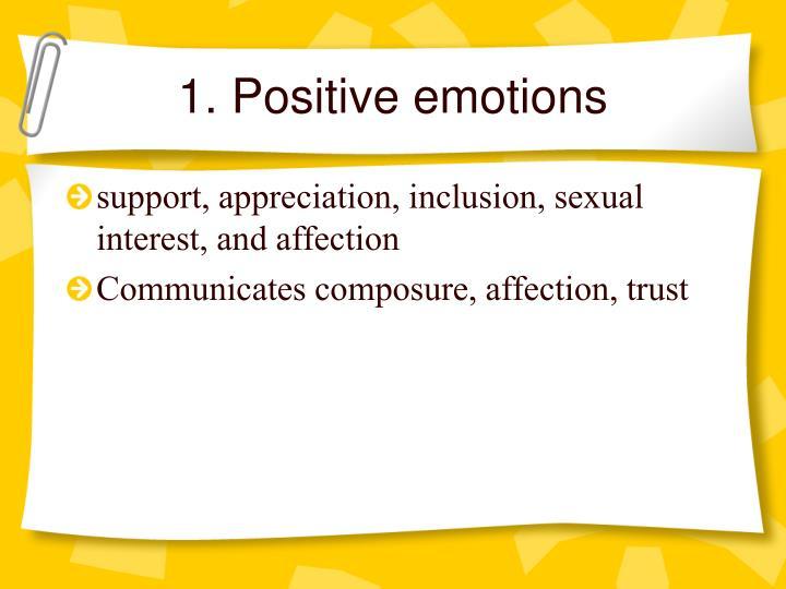1. Positive emotions