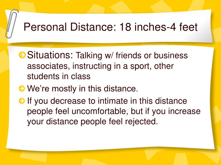 Personal Distance: 18 inches-4 feet