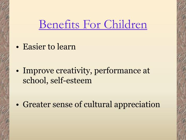 Benefits for children