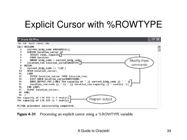 Explicit Cursor with %ROWTYPE