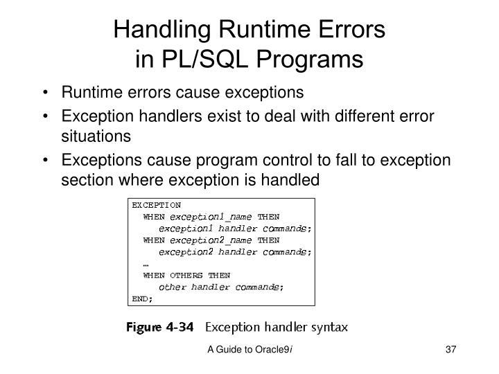 Handling Runtime Errors