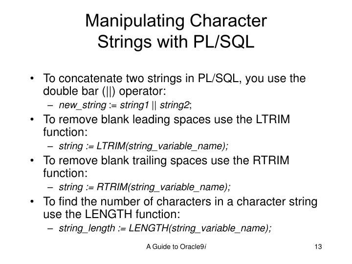 Manipulating Character