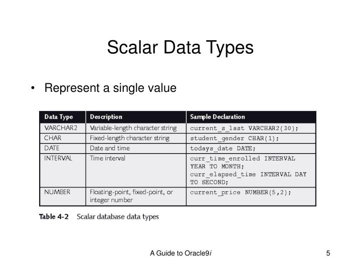 Scalar Data Types