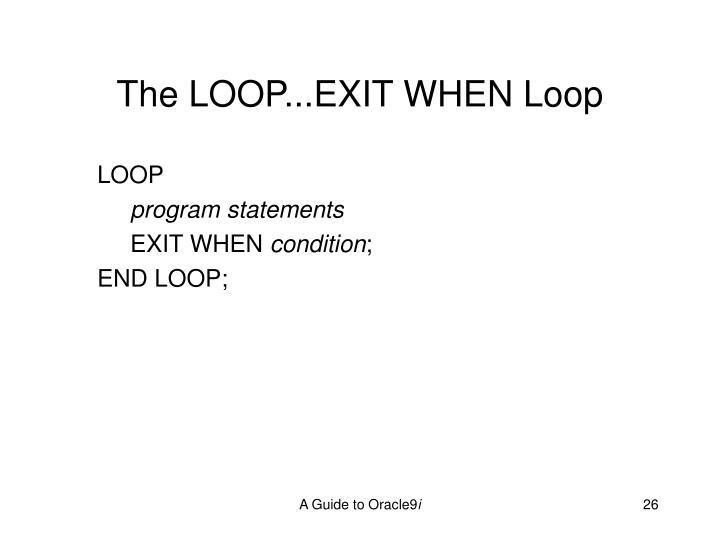 The LOOP...EXIT WHEN Loop