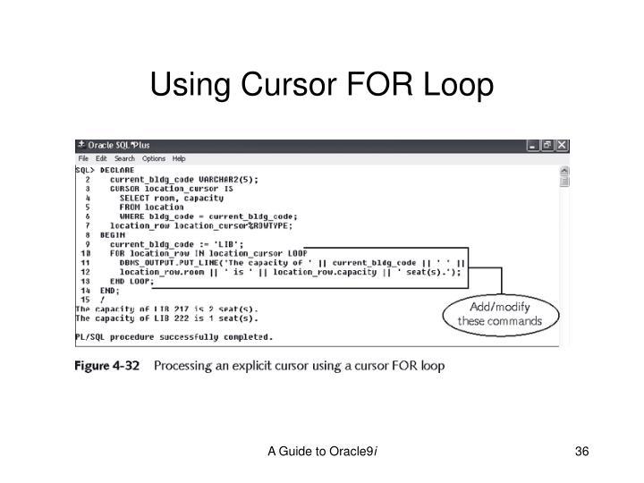 Using Cursor FOR Loop