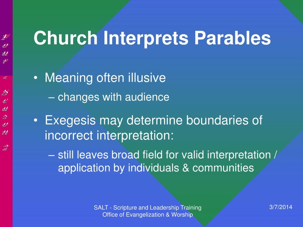 Church Interprets Parables