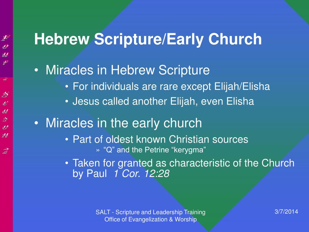 Hebrew Scripture/Early Church