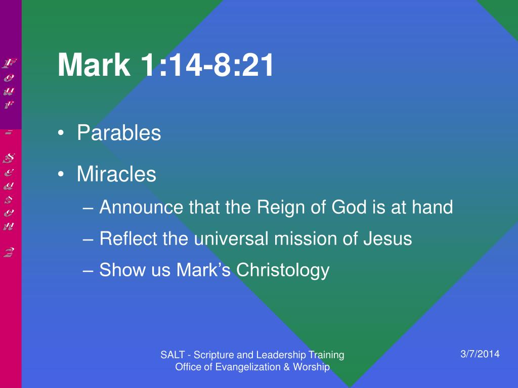 Mark 1:14-8:21