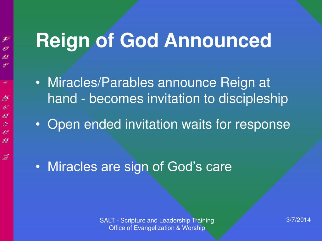 Reign of God Announced