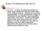 great ya reference service is2